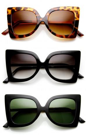 Women's Fashion Bow-Tie Butterfly Shape Oversized Sunglasses