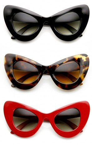 High Fashion Bold Oversized Women's Cat Eye Sunglasses