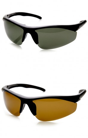 Polarized Hard Coated Lens Half Frame Action Sports Sunglasses