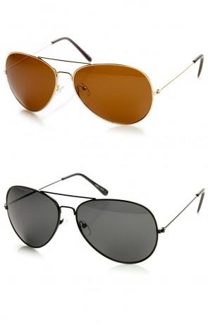 Polarized Lens Oversized Metal Frame Teardrop Aviator Sunglasses 60mm