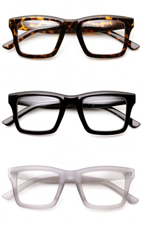 Modern Fashion Dapper Square Bold Frame Clear Lens Glasses