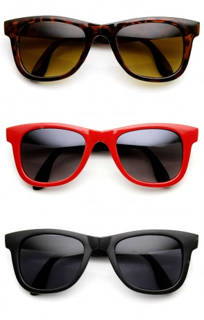 Classic Folding Compact Pocket Fold-Up Horn Rimmed Sunglasses