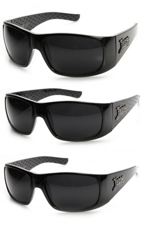 Official Locs Hardcore Eyewear Large Bold Oversized Wrap Sunglasses