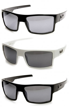 Genuine Locs Brand Square Frame OG Gangsta Shades Sunglasses