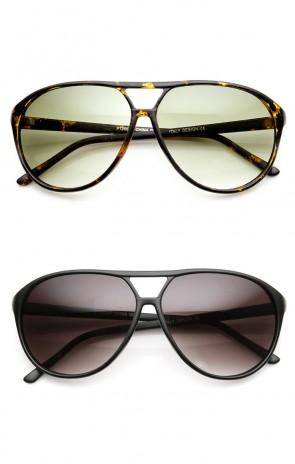 Classic 70s Fashion Teardrop Retro Plastic Aviator Sunglasses