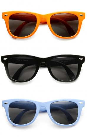 Bright Neon Colorful Compact Folding Pocket Horn Rimmed Sunglasses 50mm