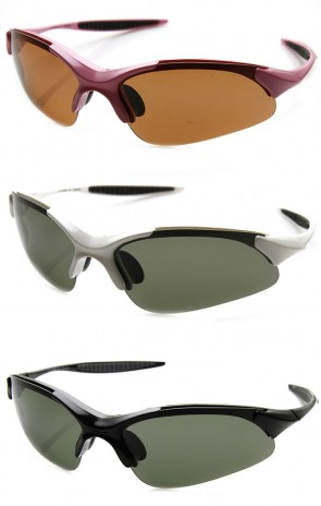 Unbreakable TR90 Frame Polarized Lens Semi-Rimless Action Sports Sunglasses