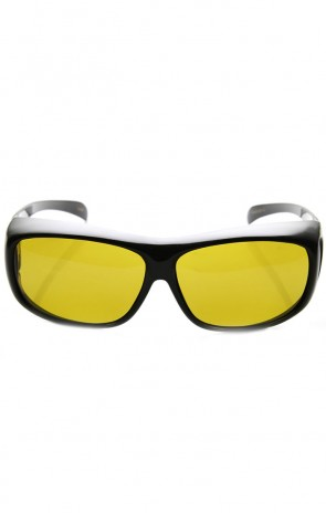 Night Driving Polarized Yellow Lens Full Protection Fit-Over Sunglasses