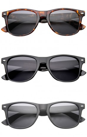 TR-90 Shatterproof Horn Rimmed Classic Sunglasses (Polarized Lens)