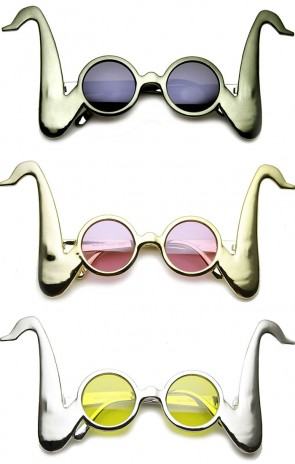 Saxophone Shaped Party Favor Festival Round Novelty Sunglasses