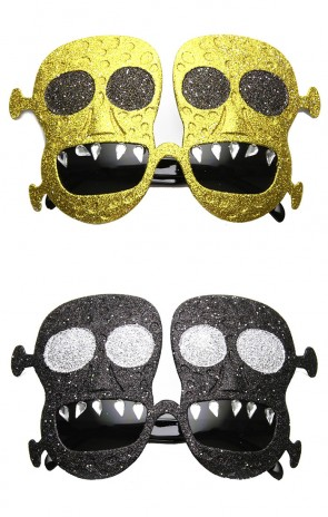 Frankenstein Monster Day Of The Dead Novelty Costume Sunglasses