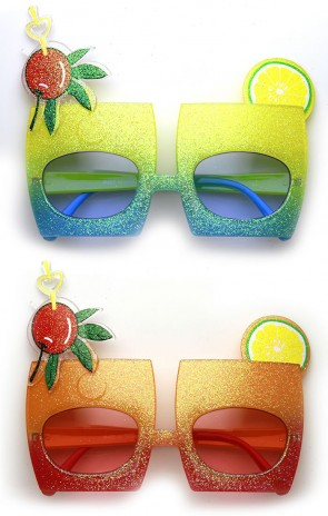 Cherry Cocktail Mix Drink Party Favor Celebration Novelty Sunglasses