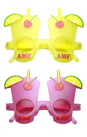 AMF Adios Cocktail Party Favor Drink Celebration Novelty Glasses