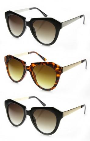 High Fashion Oversized Angular Edge Geometric Bold Cat Eye Sunglasses