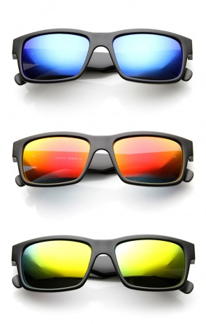 Unisex Sports Active Fit Sportswear Sunglasses with Flash Mirror Lenses