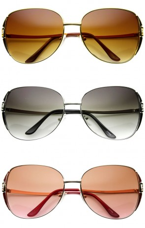 Fashion Metal Oversized Square Designer Sunglasses