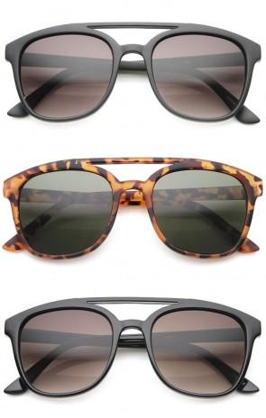 Squared Bold Frame Plastic Aviator Sunglasses