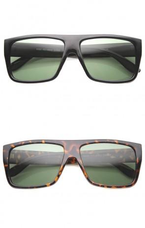 Original Rectangular Flat Top Glass Lens Loc Style Sunglasses