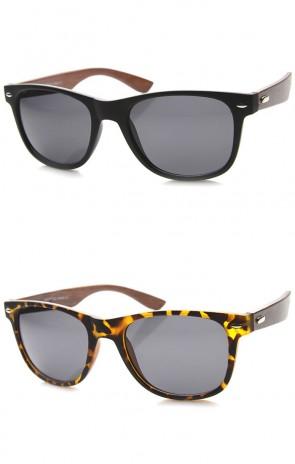 Classic 80s Retro Large Classic Horn Rimmed Style Sunglasses Eyewear