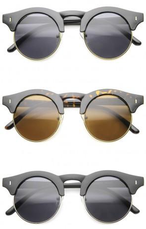 Mens Semi-Rimless Sunglasses With UV400 Protected Composite Lens