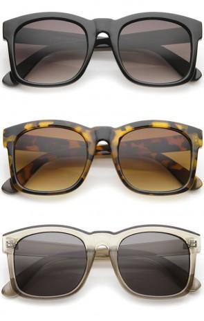 Classic Oversized Bold Horn-Rimmed Frame Square Sunglasses 53mm