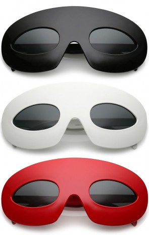 Novelty Oversize Oval Lens Hero Mask Sunglasses 55mm
