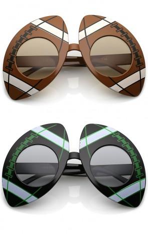 Novelty Oversize Sports Round Lens Football Sunglasses 41mm