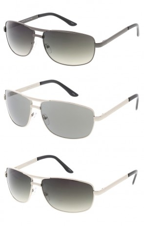 Rectangular Metal Aviator Wholesale Sunglasses