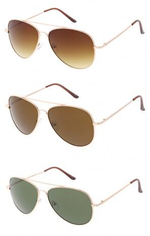 Modern Brow Bar Aviator Wholesale Sunglasses