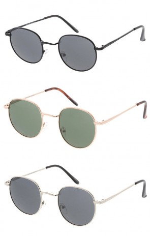 Small Rounded Metal Frame Wholesale Sunglasses