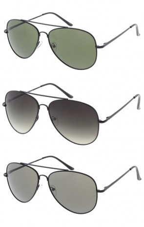 Classic Black Frame Aviator Mens Wholesale Sunglasses