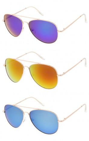 Aviator Metal Frame Color Lens Wholesale Sunglasses