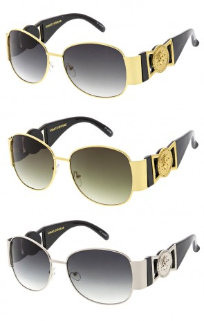 Vivant Luxury Round Vintage Logo Wholesale Sunglasses