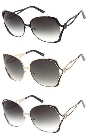 Vivant Oversized Luxury Metal Frame Wholesale Sunglasses