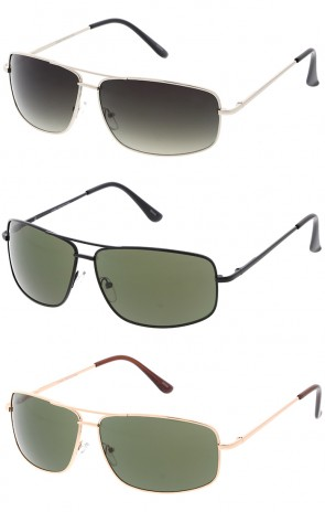 Men's Sport Metal Square Aviator Wholesale Sunglasses