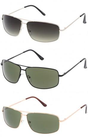 Men's Sport Metal Square Aviator Wholesale Sunglasses