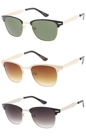 Indie Half Frame Horned Rim Vintage Inspired Wholesale Sunglasses
