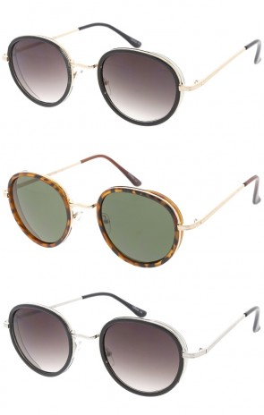Indie Dapper Vintage Round Wholesale Sunglasses