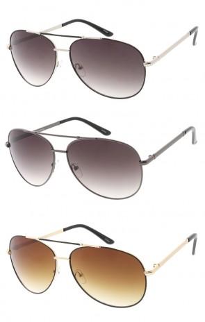 Oversized Brow Bar Aviators Unisex Wholesale Sunglasses