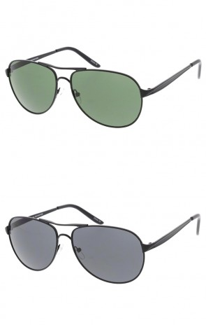Classic Metal Aviator Neutral Colored Lens Wholesale Sunglasses