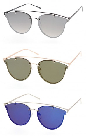 Unisex Modern Metal Aviator Sunglasses