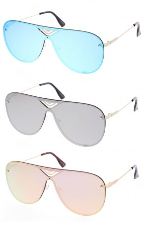 Fashion Unisex Aviator Style Frame Sunglasses