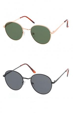 Retro Round Metal Vintage Style Sunglasses