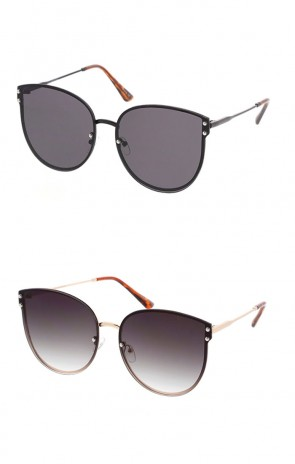 Retro Round Womens Metal Frame Sunglasses