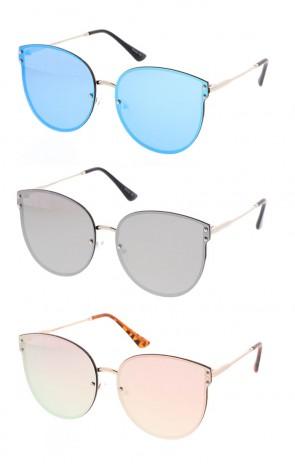 Womens Round Fashion Shaped Revo Sunglasses