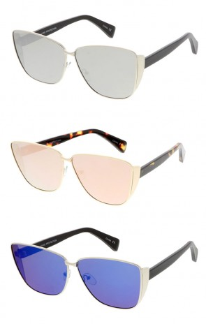 Premium Oversize Laser Cut Metal Cat Eye Wholesale Sunglasses
