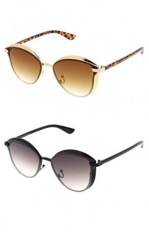 Wholesale Metal Frame Cateye Gradient Lens Sunglasses