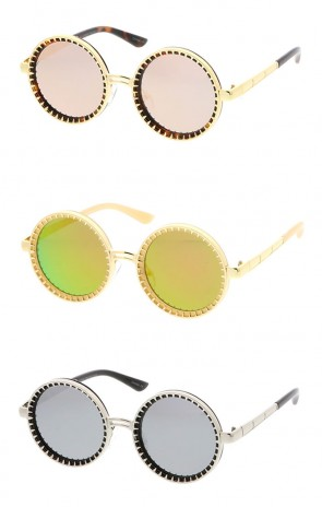 Retro Steampunk Round Wholesale Sunglasses