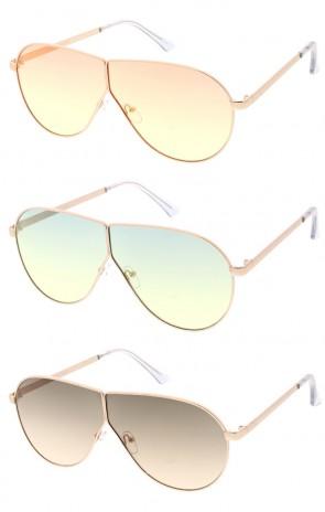 Retro Modern Flat Lens Aviator Wholesale Sunglasses