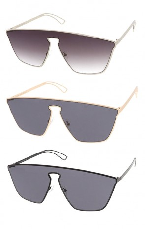Futuristic Modern Disco Mono Lens Wholesale Sunglasses
